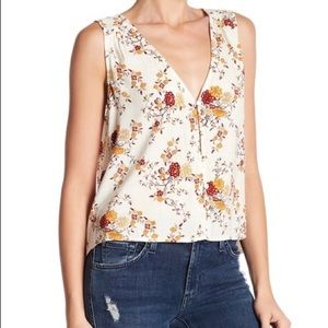 Melrose and Market Floral Hi-Lo Tank Top Size XXL